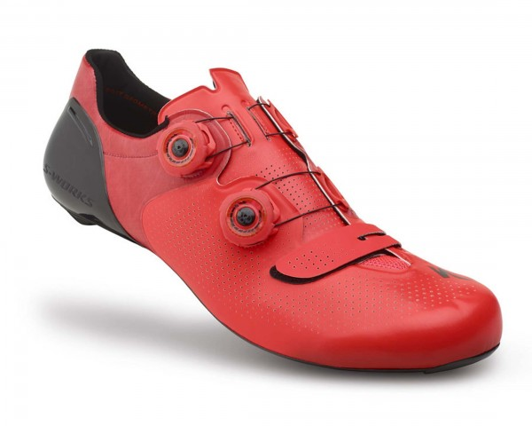Specialized S-Works 6 Road Bike Shoes | rocket red dipped