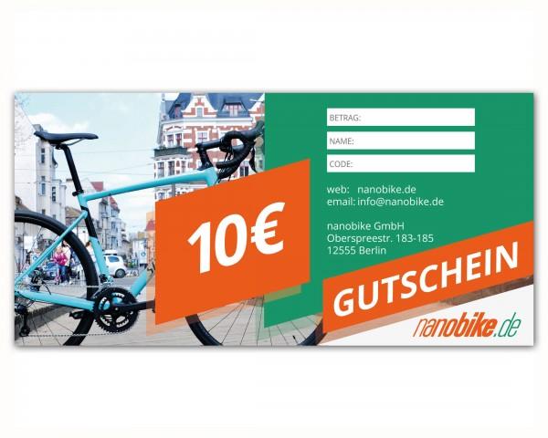 nanobike Geschenkgutschein 10 EUR