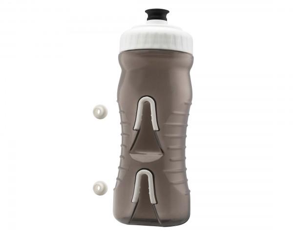 Fabric Wasserflasche mit integriertem Halter 600 ml | black-white