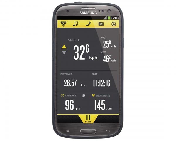Topeak RideCase für Samsung Galaxy S4 mit Halter | Schwarz