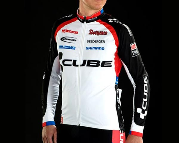 Cube Teamline Jersey Basic Lang Men | white-black-red