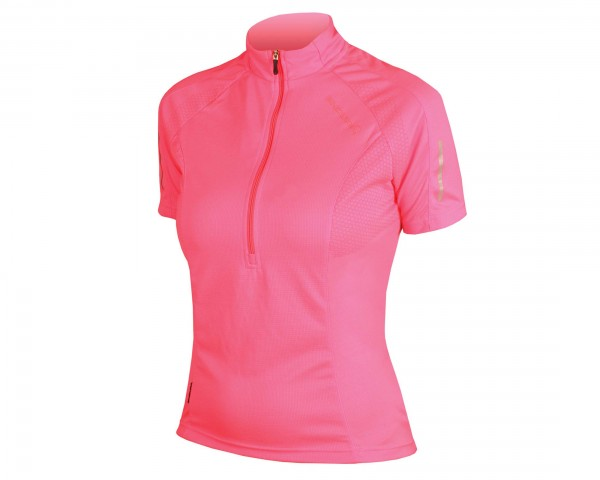 Endura Womens Xtract Jersey short sleeve | neon pink