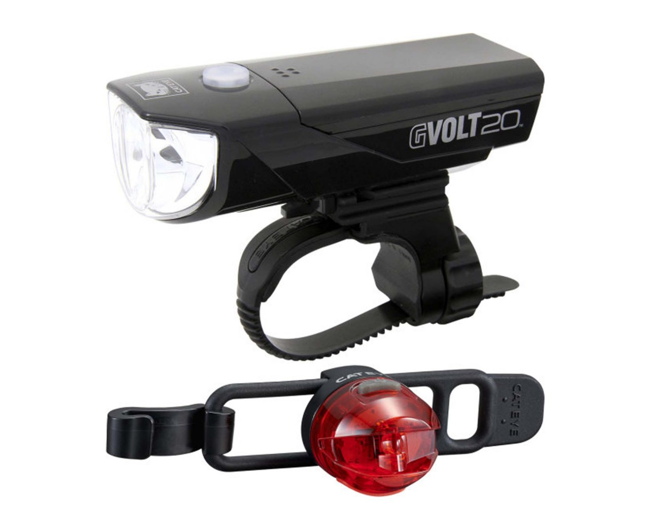 Cateye Rechargeable Headlight GVolt 20RC + Loop 2G