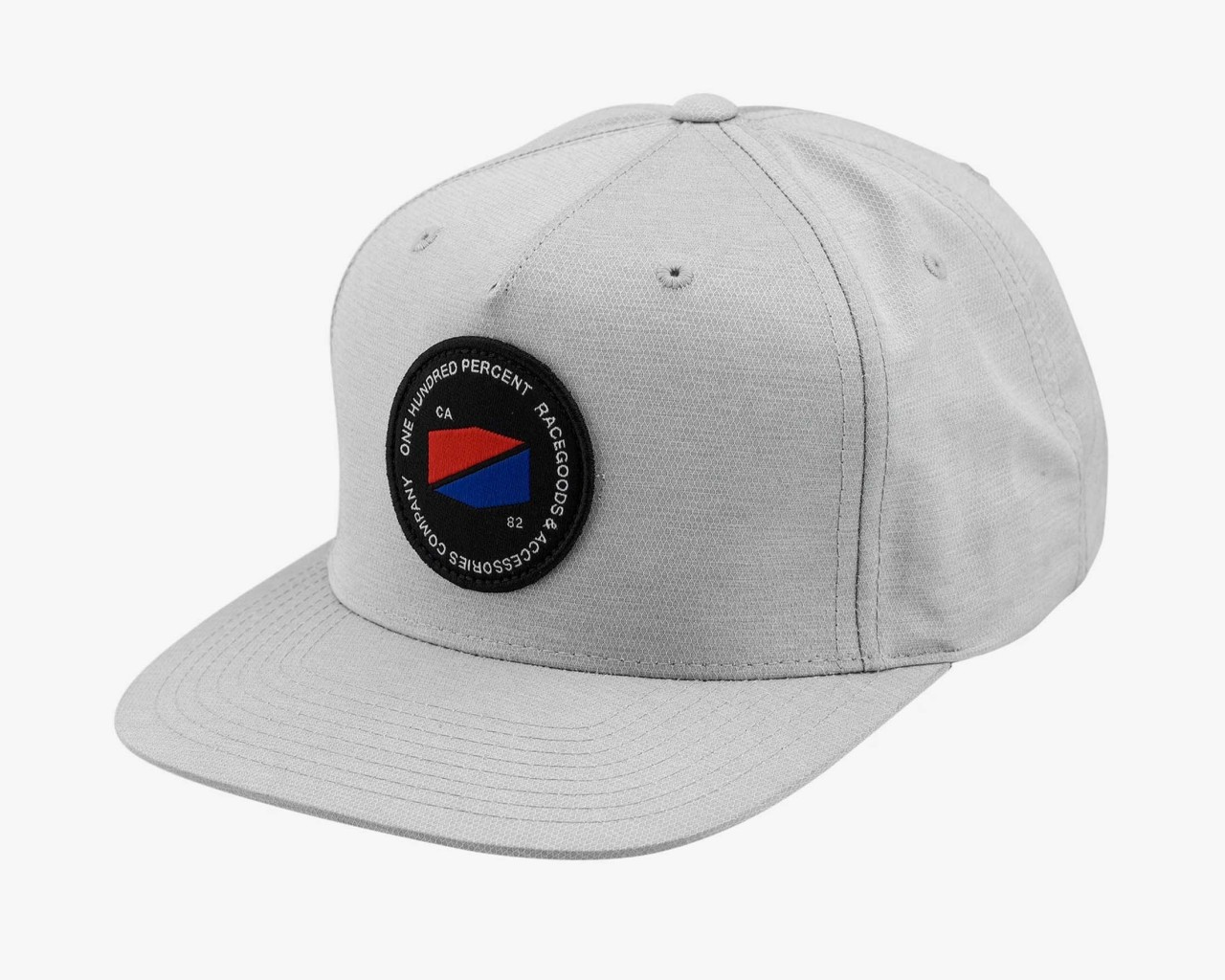 100% Jefferson Snapback Hat | grey