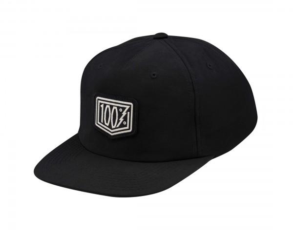 100% Pioneer Snapback Hat   black