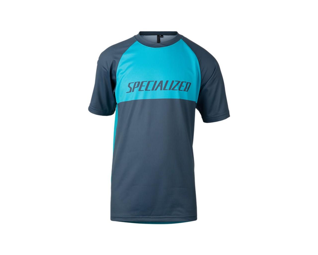 Specialized Enduro Grom Jersey Youth Short Sleeve   aqua-cast blue block