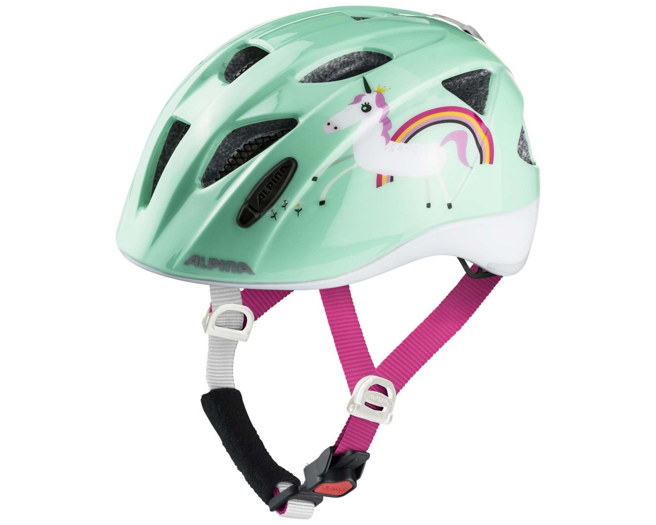 Alpina Ximo Flash Kids Bike Helmet | mint unicorn