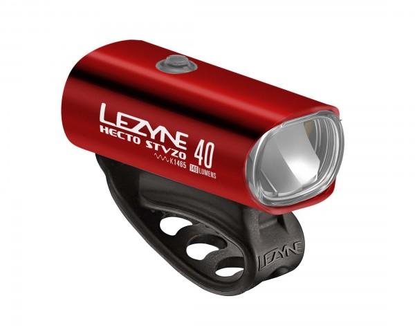 Lezyne Hecto StVZO 40 Lux Frontlight | red-shiny