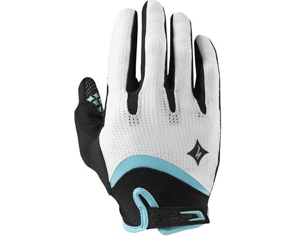 Specialized Women's Body Geometry Gel Long Finger Handschuhe | Weiß/Hellblau