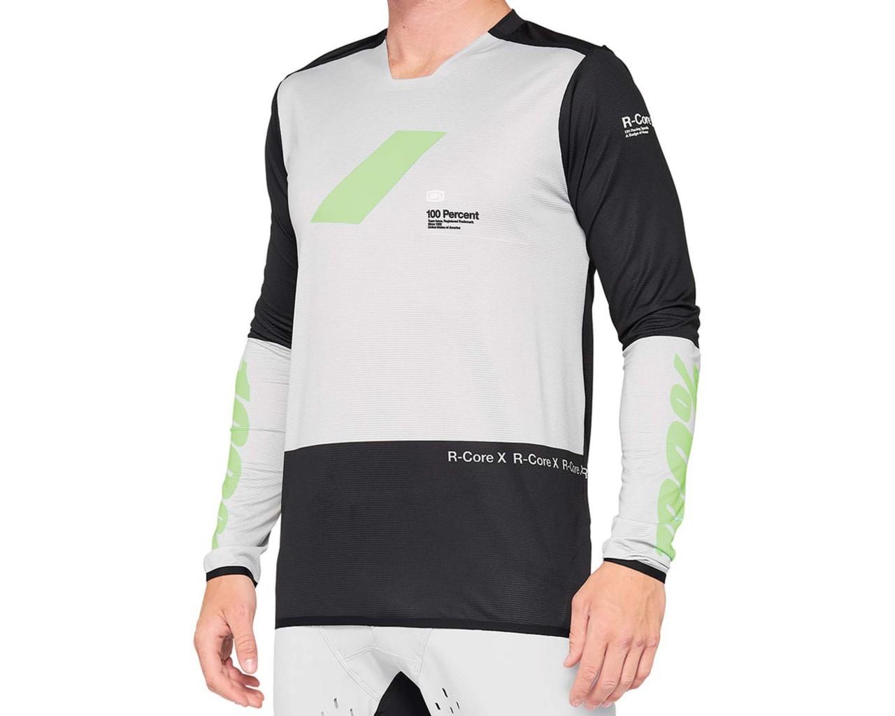 100% R-Core X Downhill Trikot langarm | vapor-black