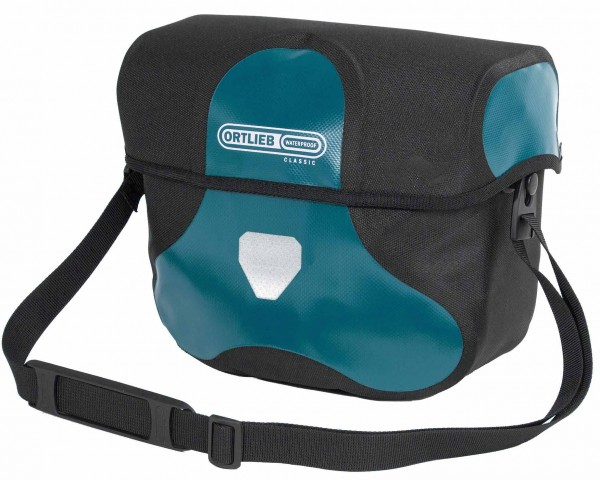Ortlieb Ultimate Six Classic 7 litres waterproof Bicycle handlebar bag without Mounting Set | petrol-black