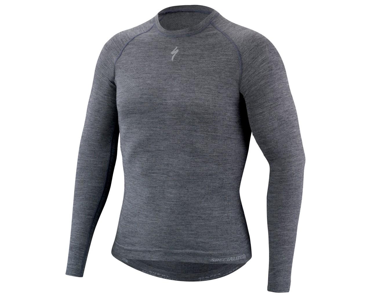 Specialized Seamless Merino Baselayer longsleeve   grey