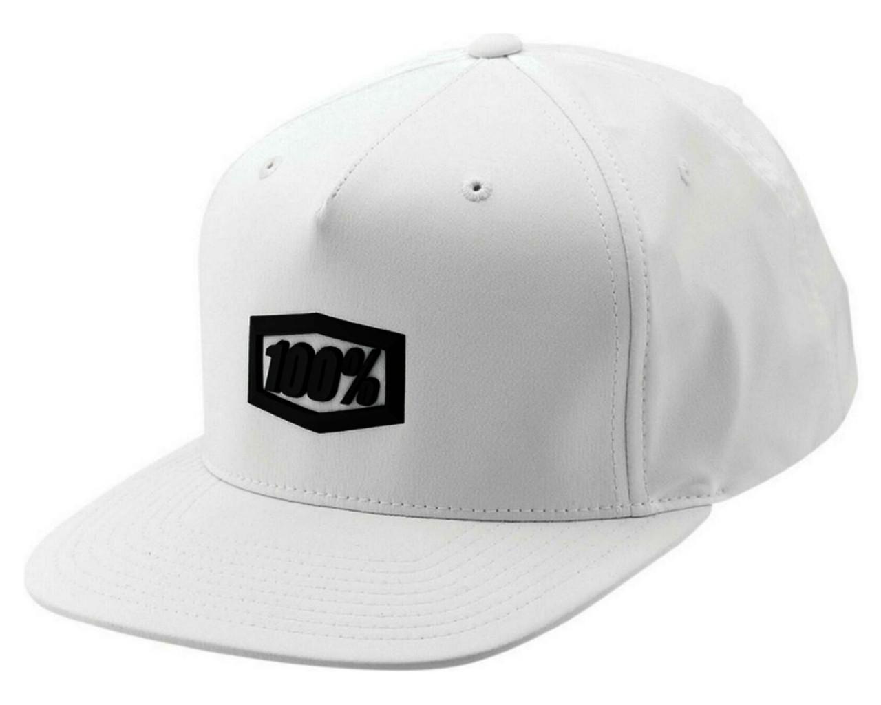 100% Enterprise 2019 Snapback Hat | white