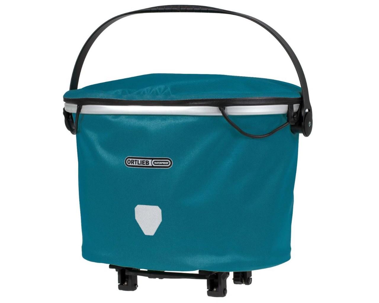 Ortlieb Up-Town Rack City - waterproof carrier bag   petrol
