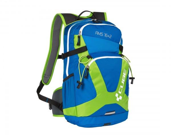 Cube Rucksack AMS 16+2 | blue n green