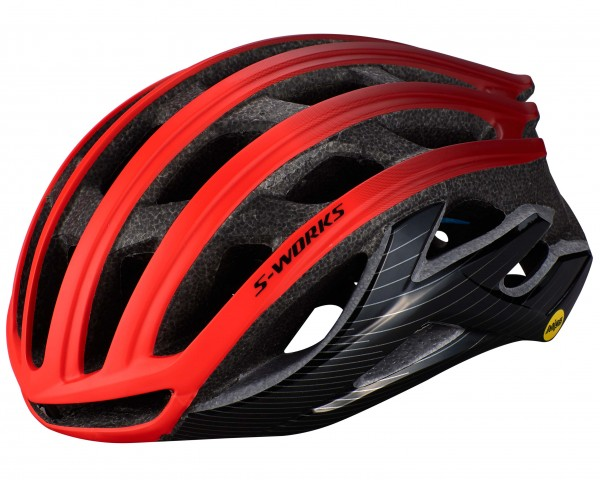 Specialized S-Works Prevail II MIPS Road Bike Helmet with ANGi | rocket red-crimson-black