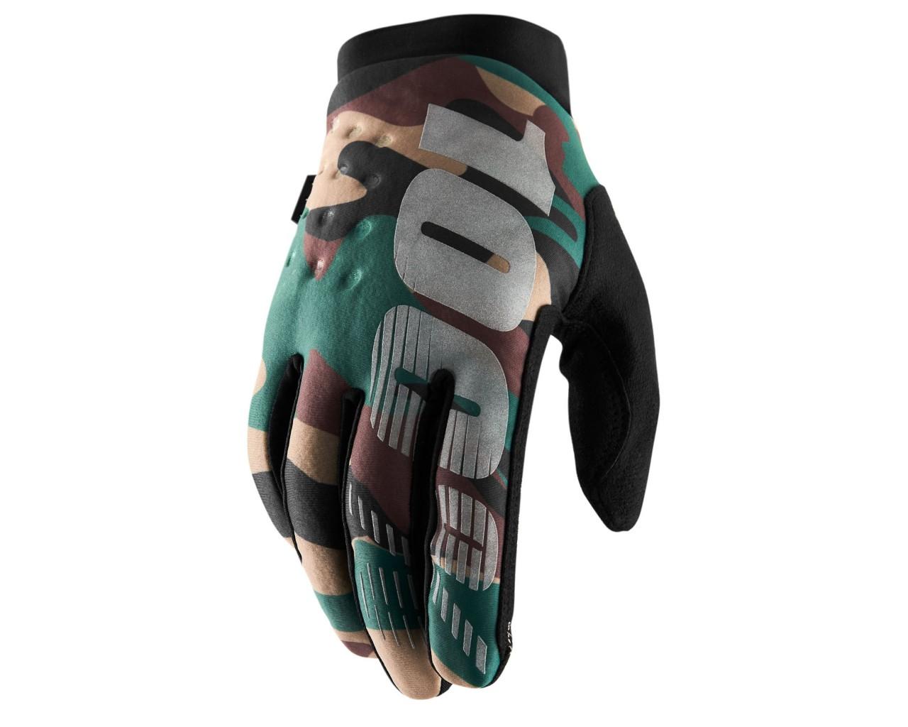 100% Brisker Cold Weather Glove | camo black