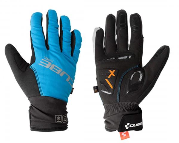 Cube Handschuhe Natural Fit X-Shell Langfinger | blau/schwarz