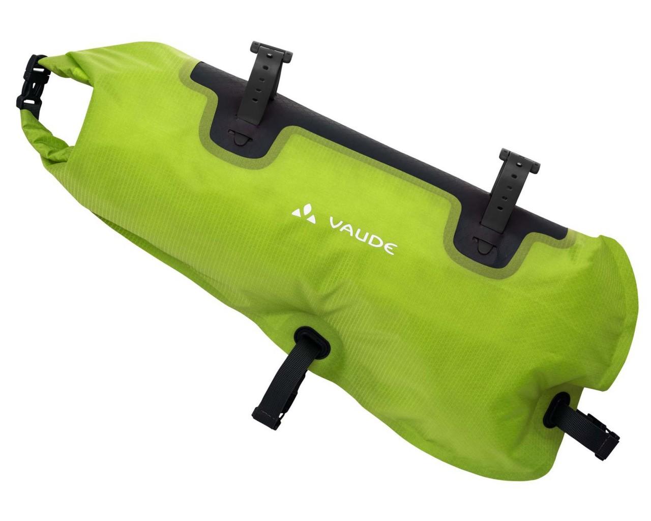 Vaude Trailframe 8 liter wasserdichte Rahmentasche füs Bikepacking | black-green