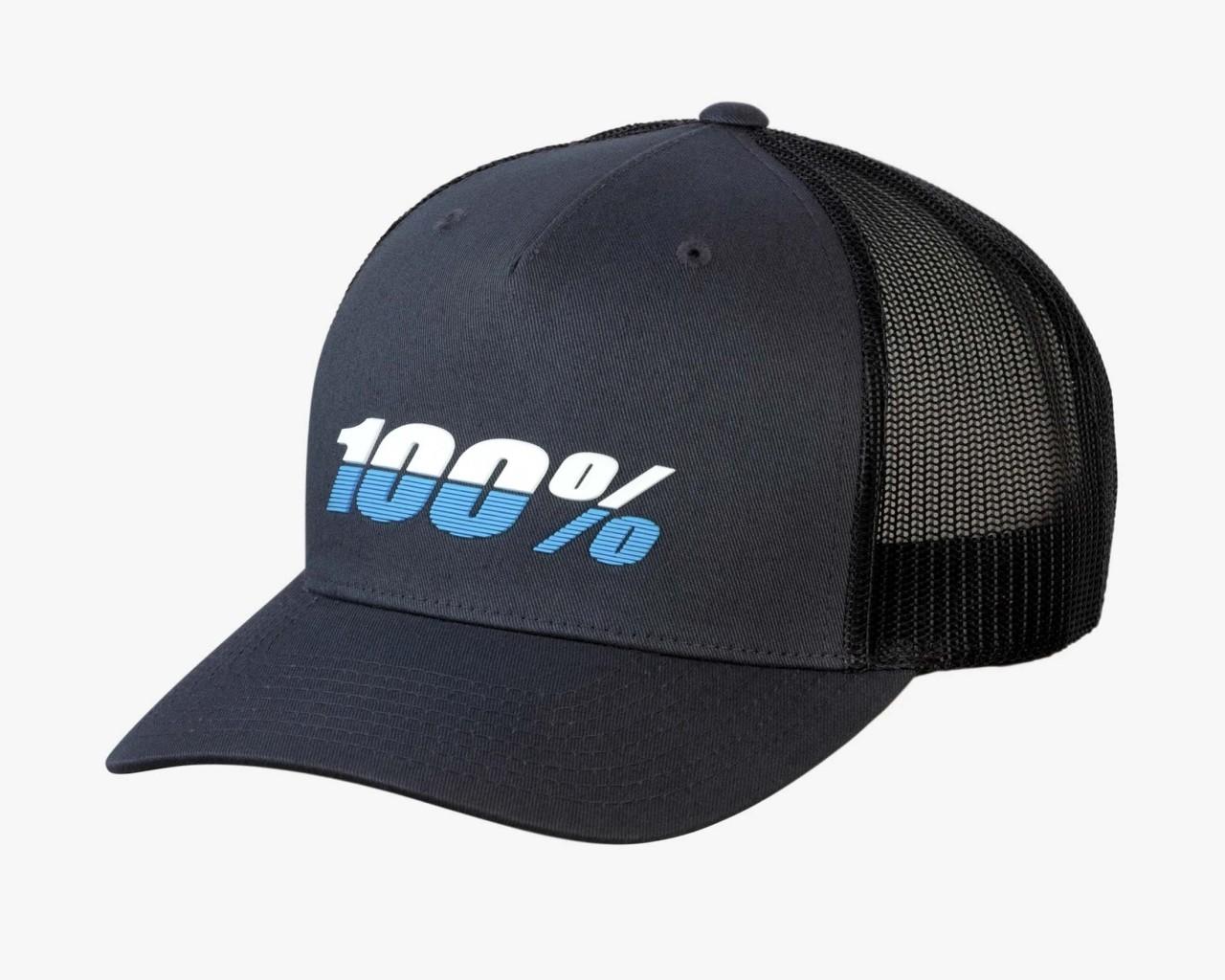 100% League X-Fit Snapback Hat | charcoal