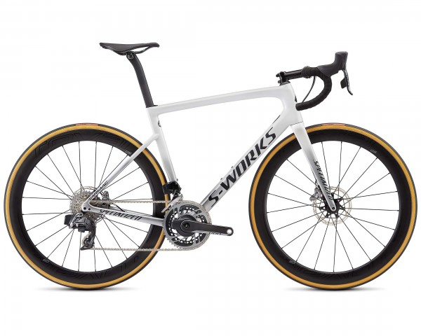 Specialized S-Works Tarmac SL6 Disc eTap AXS - Carbon Rennrad 2020 | gloss metallic white silver-lit