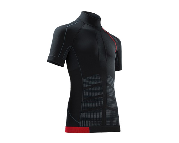 Cube Baselayer cold contitions S/S Blackline | black/grey/red
