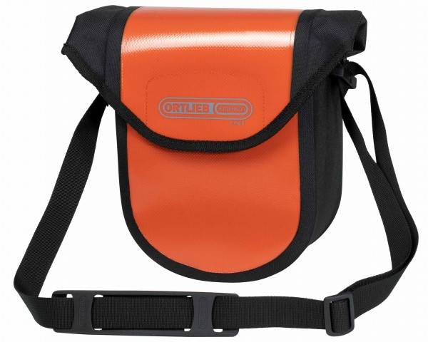 Ortlieb Ultimate Six Compact Free 2.7 litres waterproof Bicycle handlebar bag without Mounting Set PVC free | rust-black
