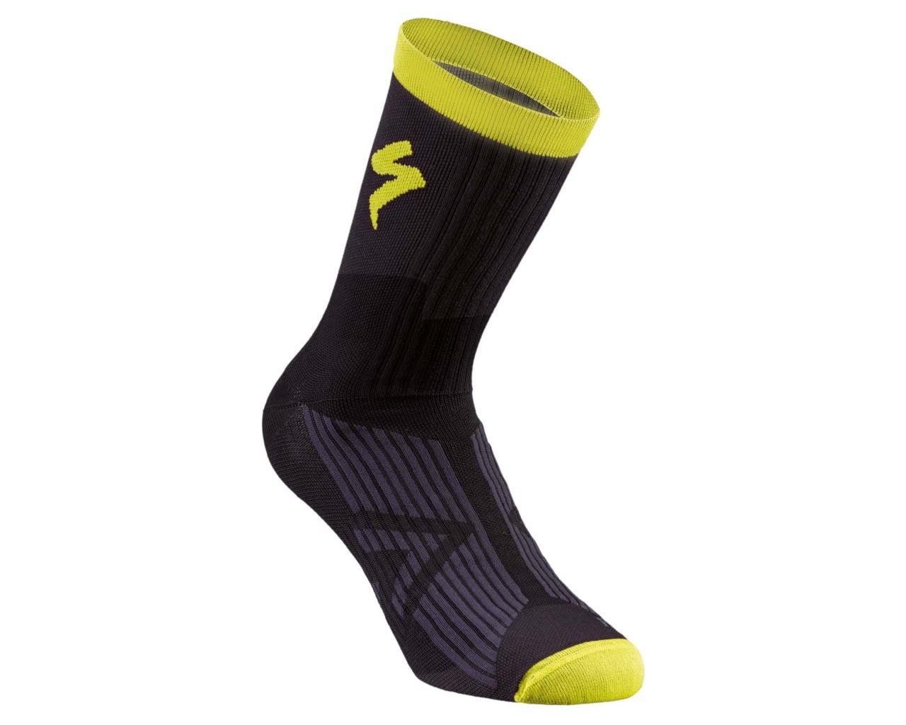 Specialized SL Elite Winter Socks   black-neon yellow