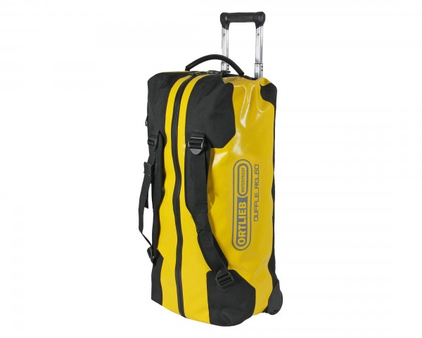 Ortlieb Duffle RG 60 liter wasserdichte Reisetasche | sonnengelb-schwarz