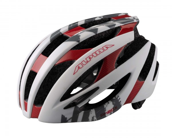 Alpina PheoX Road Bike Helmet | white-red