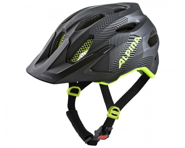 Alpina Carapax Jr. Youth Bike Helmet | black-neon-yellow