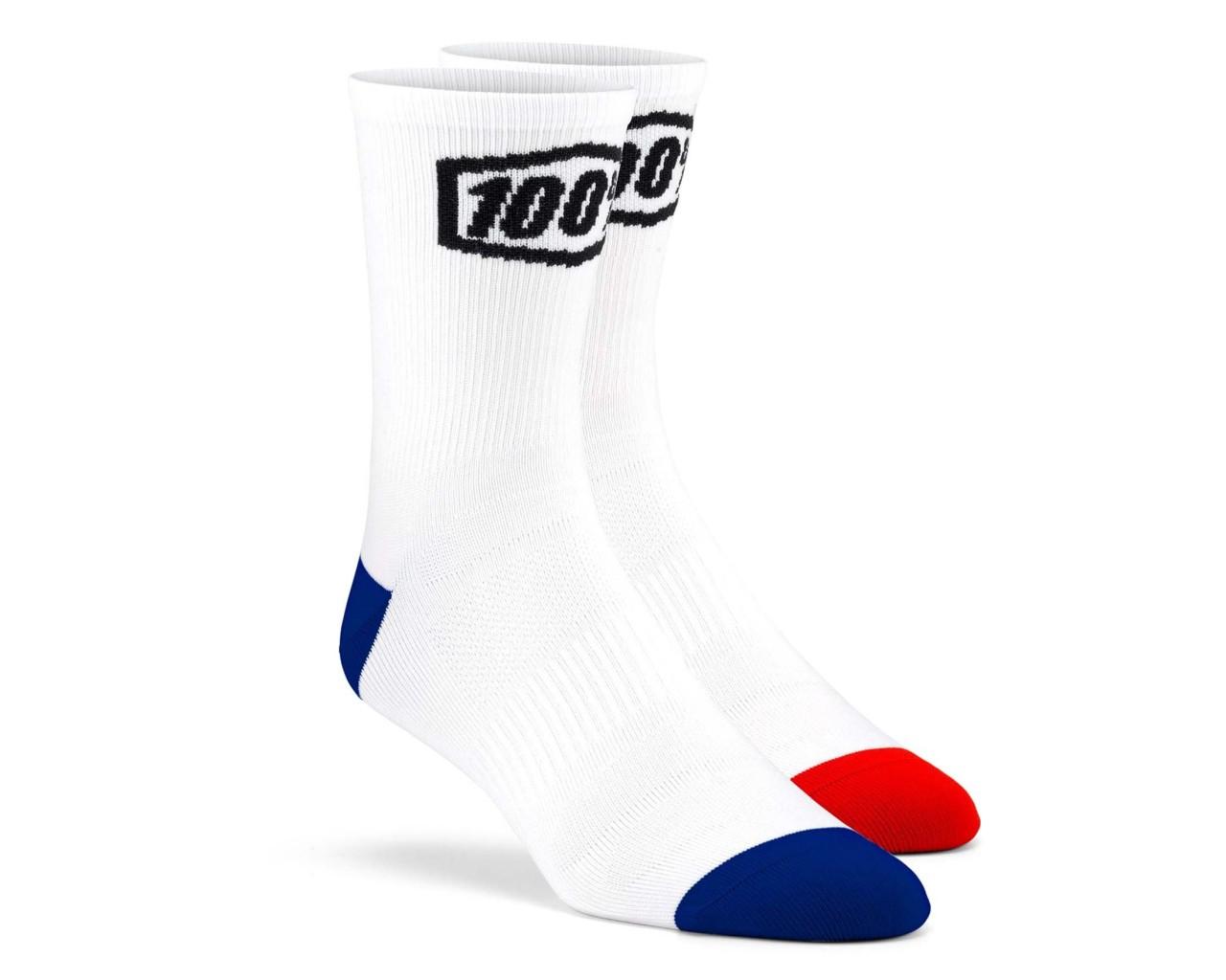 100% Terrain Socks | white