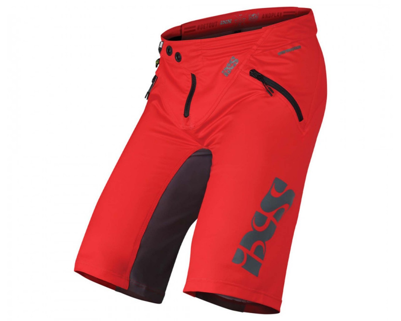 iXS Trigger Shorts | red-graphite
