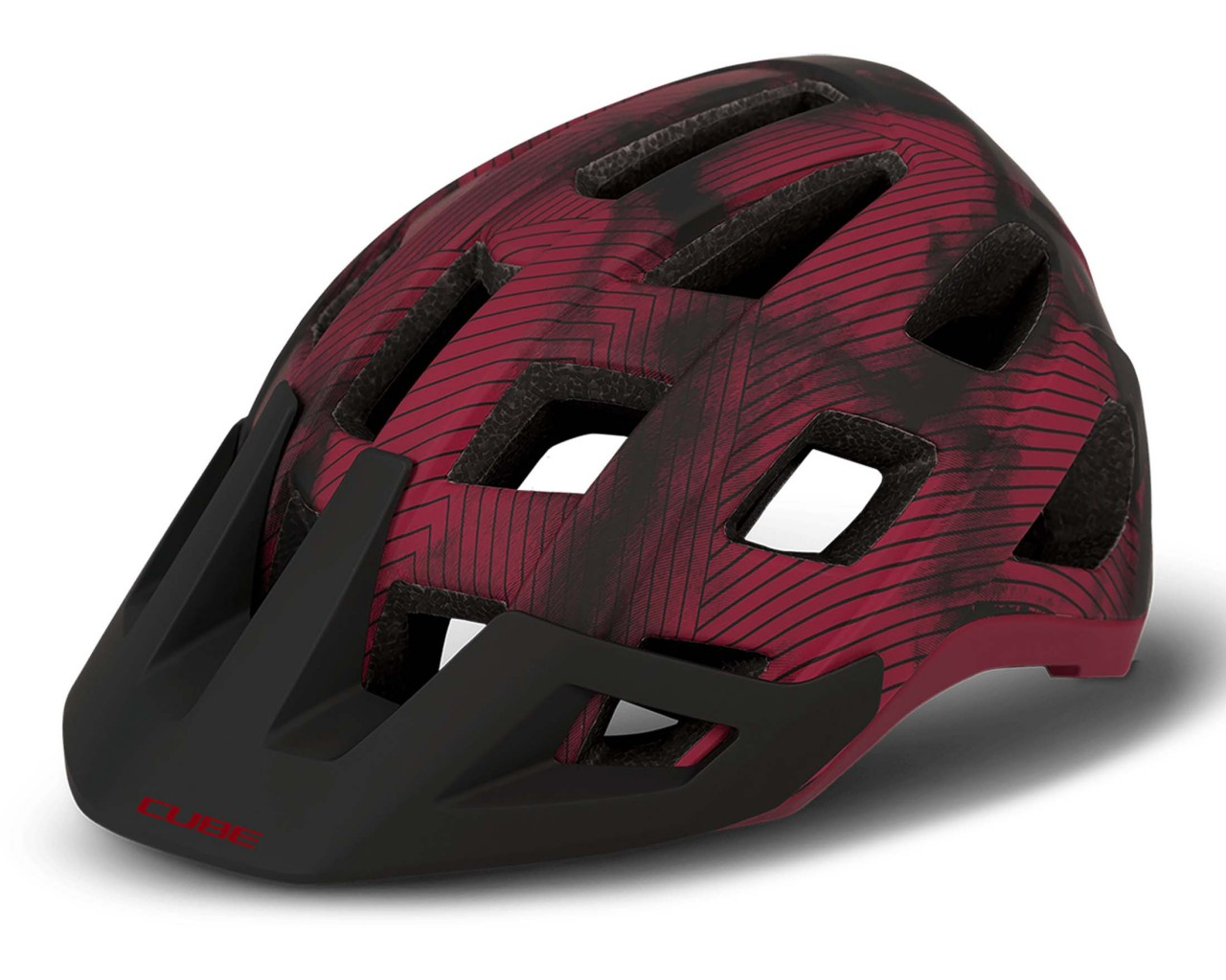 Cube BADGER MTB Helm   rot