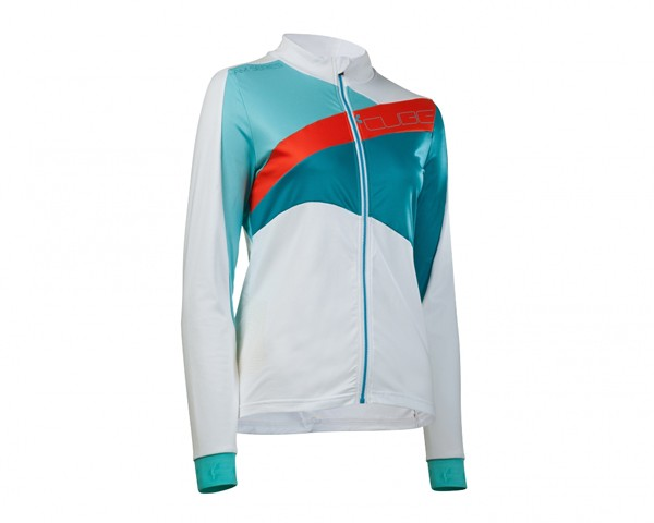 Cube AM WLS Jersey long sleeve | white-blue