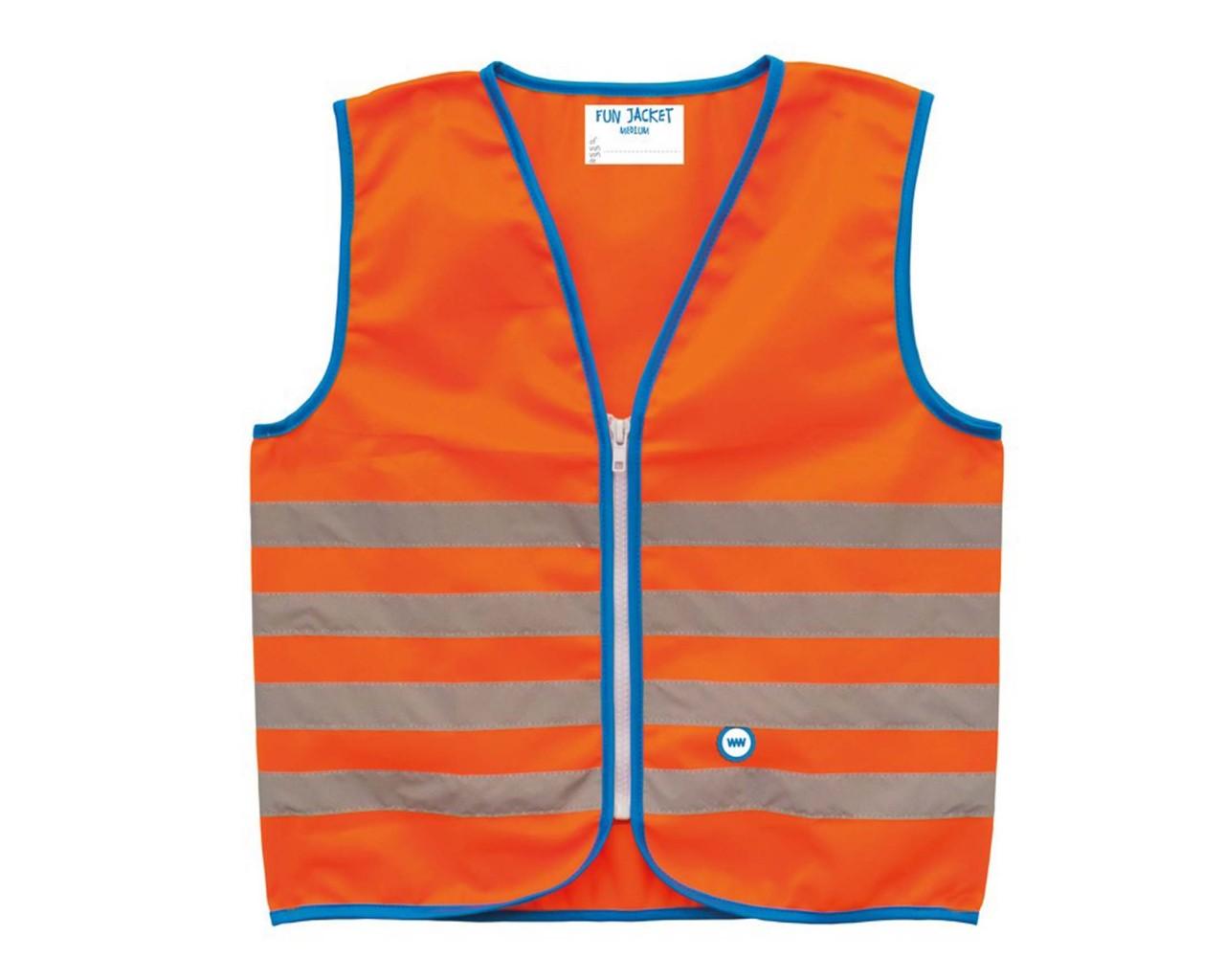 Wowow Fun Jacket - signal vest for Kids   orange-reflect