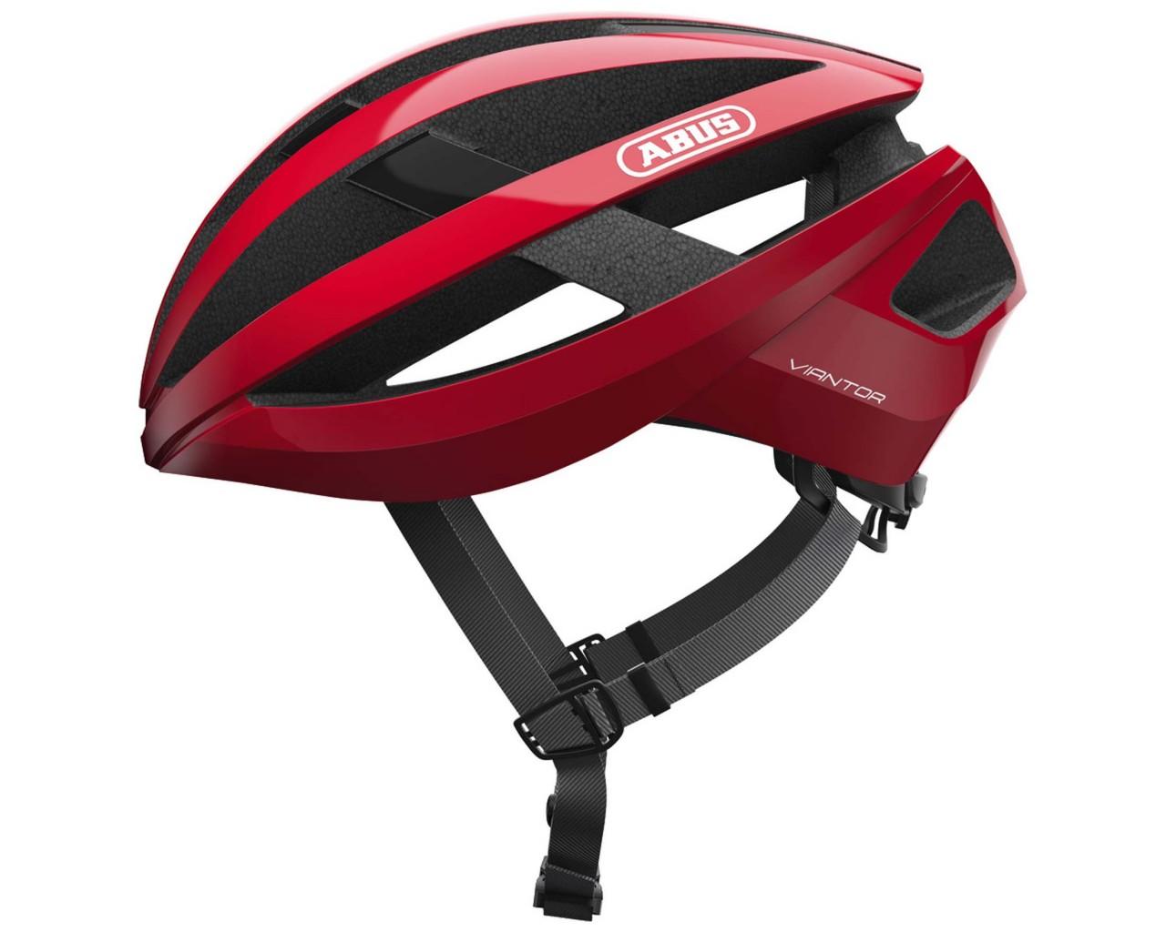 Abus Viantor Road Bike Helmet | racing red