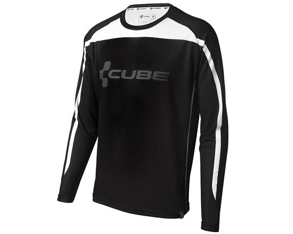 Cube Blackline Freeride Trikot Langarm | black-white