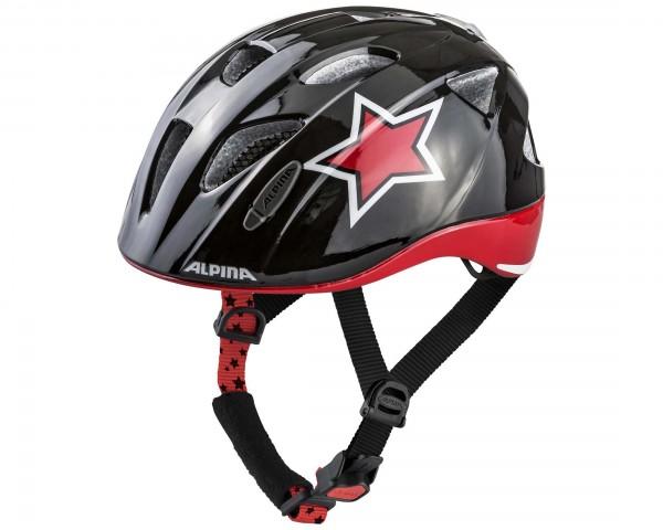Alpina Ximo Flash Kinder Fahrradhelm | black-red-white star