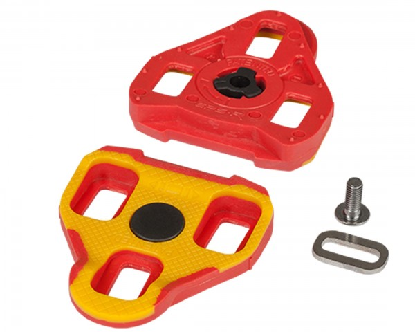 Cube RFR Cleats Look Keo 7° | yellow´n´red