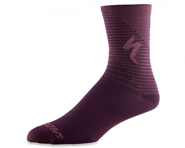 Specialized Soft Air Road Tall Socks | cast berry-dusty lilac arrow