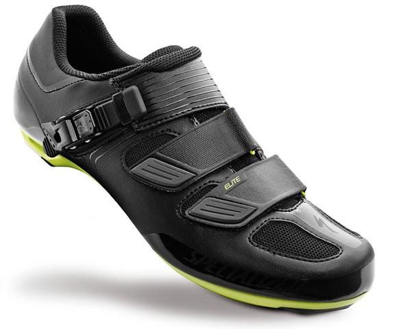 Specialized Elite ROAD Bike Shoes | Black-Hyper Green Reflective