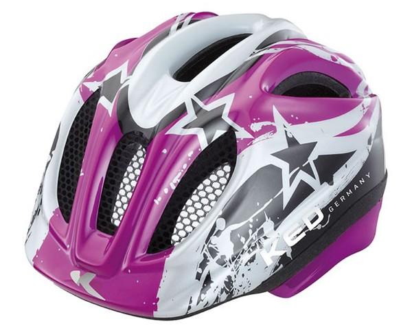 KED Meggy Kids Bike Helmet   Violett Stars