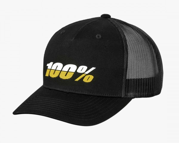 100% League X-Fit Snapback Hat | black