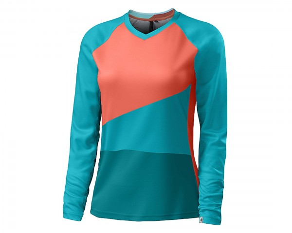 Specialized Andorra Comp Jersey Womens long sleeve | neon coral-turquoise