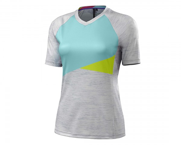Specialized Womens Andorra Comp Jersey kurzarm | light grey-light teal
