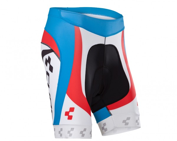 Cube Teamline WLS Cycle Shorts | white-black-blue-red