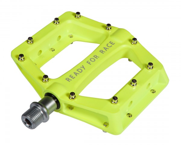 Cube Pedals Flat RACE | neon yellow