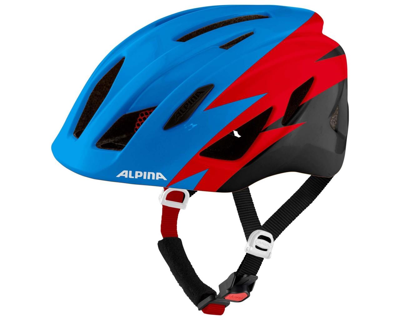 Alpina Pico Kinder Fahrradhelm   blue-red-black gloss 50-55