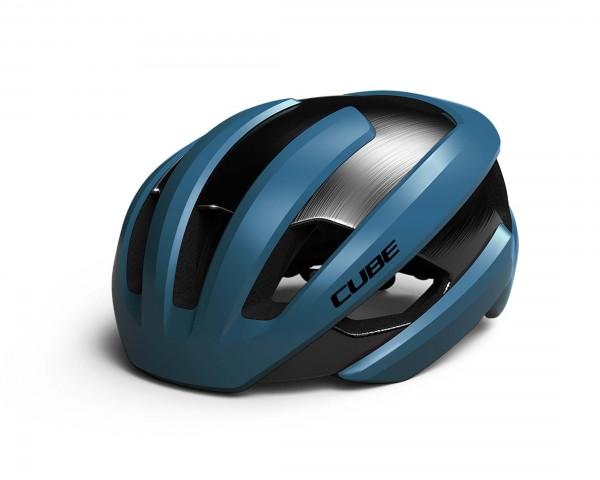 Cube Road Helm HERON | blau